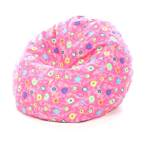 Elite Products Junior Print and Plush Bean Bag Chair