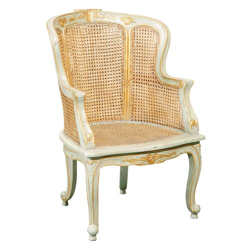 Louis XV Bergere Hand Painted Arm Chair