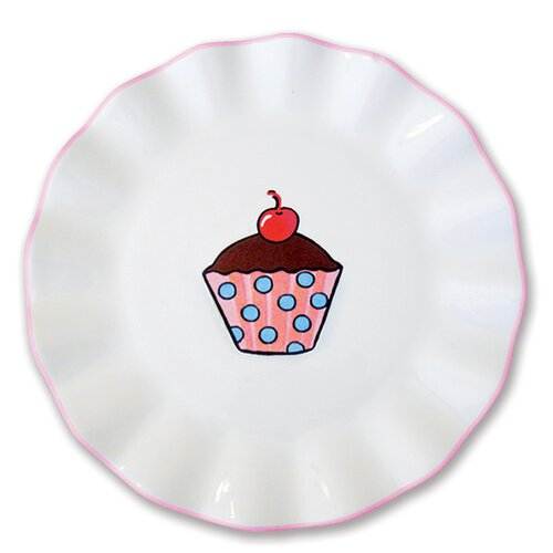 "Omniware Everyday Cupcake 7"" Polka Dots Plate"