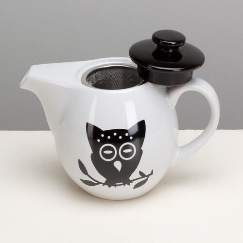 Night Owl Teapot with Infuser