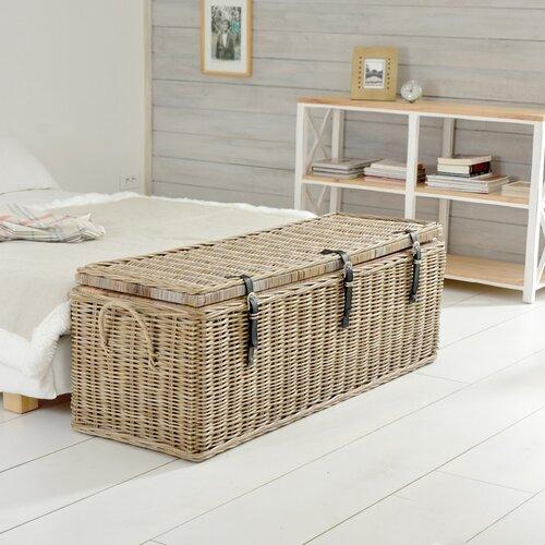 Tikamoon kubu rattan blanket box reviews wayfair uk for Malle de rangement decorative