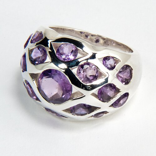 Sitara Jewelry Sterling Silver Amethyst Ring