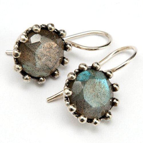 Sitara Jewelry Labradorite Blue Gemstone Sterling Silver Earrings