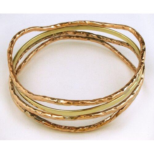 Handmade Brass and Copper Bangle