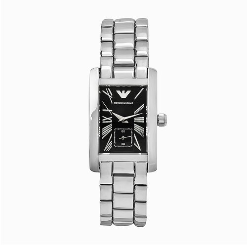 Emporio Armani Women's Classic Stainless Steel Watch in Black Dial