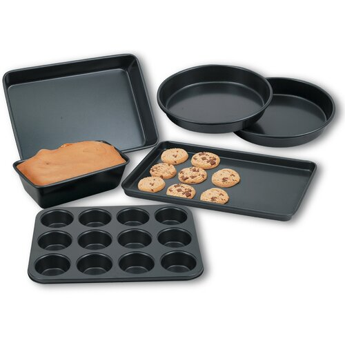 Cook N Home 6 Piece Heavy Gauge Nonstick Bakware Set