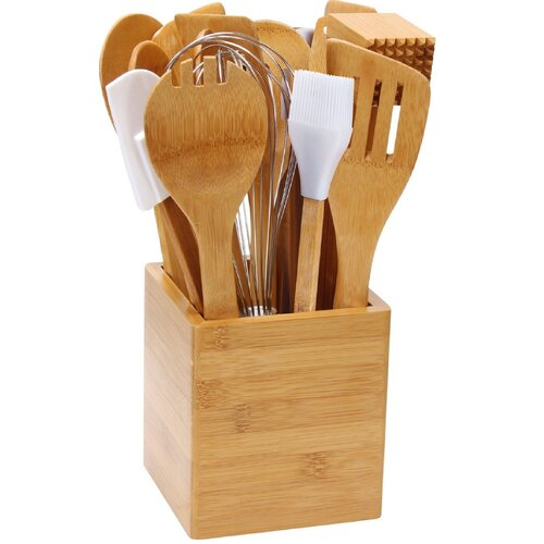 15 Piece Bamboo Tool Set