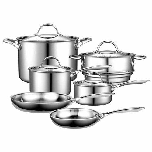 Cooks Standard Stainless Steel 10-Piece Cookware Set