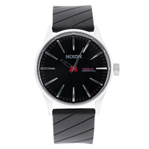 Nixon Men's Sentry Polyurethane Quartz Watch with Black Dial