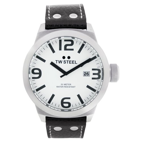 TW Steel Icon Men's Watch with White Dial
