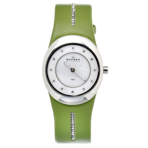 Leather Women's Crystal Watch