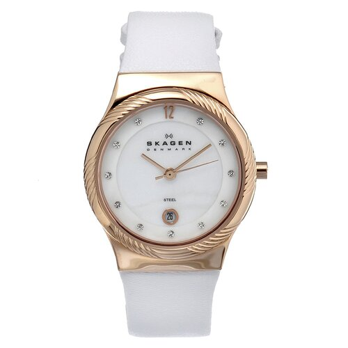 Leather Swarovski Women's Crystal Watch