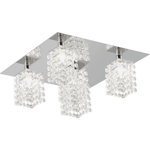 EGLO Pyton 5 Light Semi Flush Ceiling Light
