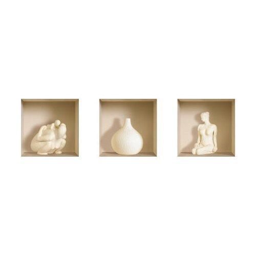 Nisha 3D Effect Ceramic Figure Wall Decal (3-Piece Set)