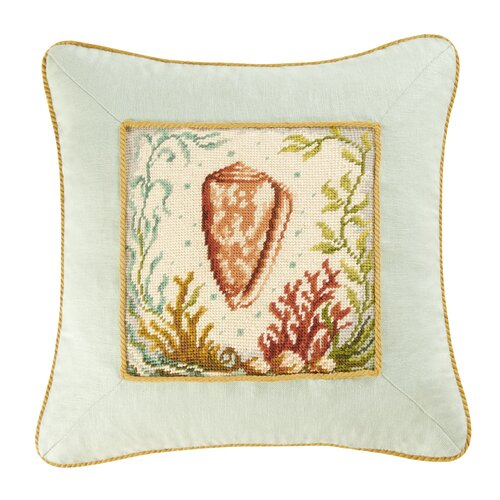 C & F Enterprises Natural Shells Cone Shell Pillow