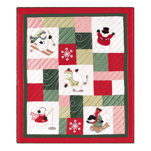 C & F Enterprises Winter Wonderland Quilted Cotton Throw