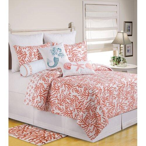 C & F Enterprises Cora Mermaid Cotton Accent Pillow