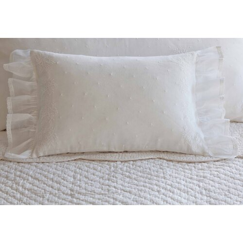 Taylor Linens Daisy Dot Cotton Boudoir Pillow