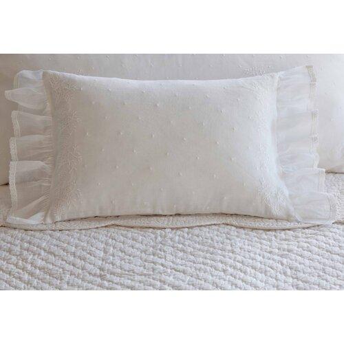 Daisy Dot Cotton Boudoir Pillow