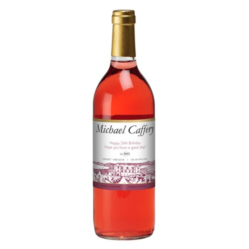 Signature Gifts Personalized Rose Wine Label