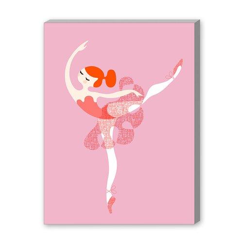 Ballerina Arabesque Graphic Art on Canvas
