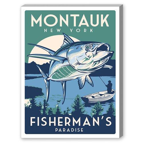 Montauk Fish Vintage Advertisement on Canvas
