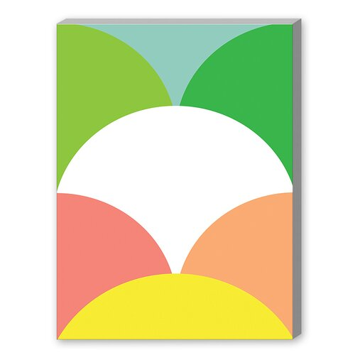 Spring Color Circles Graphic Art on Canvas