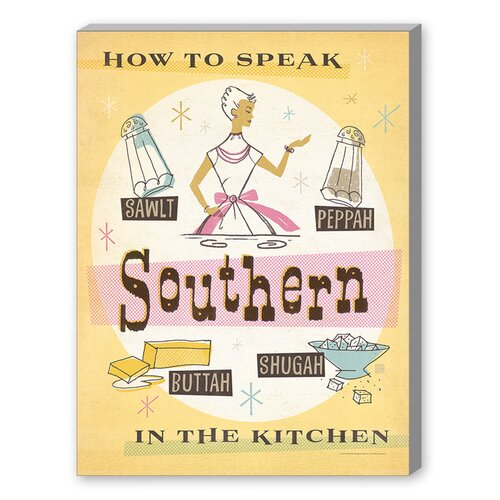 Southern Kitchen Graphic Art on Canvas