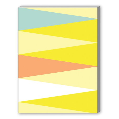 Spring Triangle Pattern Graphic Art on Canvas
