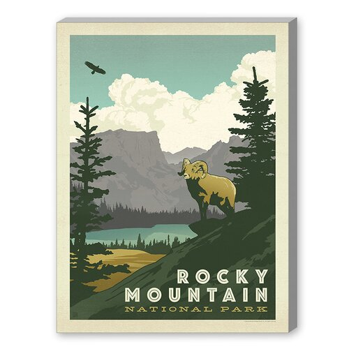 Rocky Mountain Vintage Advertisement on Canvas
