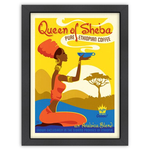 Coffee 'Queen of Sheba' by Joel Anderson Vintage Advertisement
