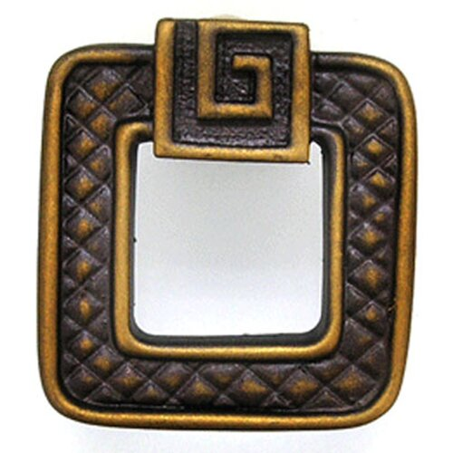 "Anne at Home Greek Key Argos 1.5"" Square Knob"