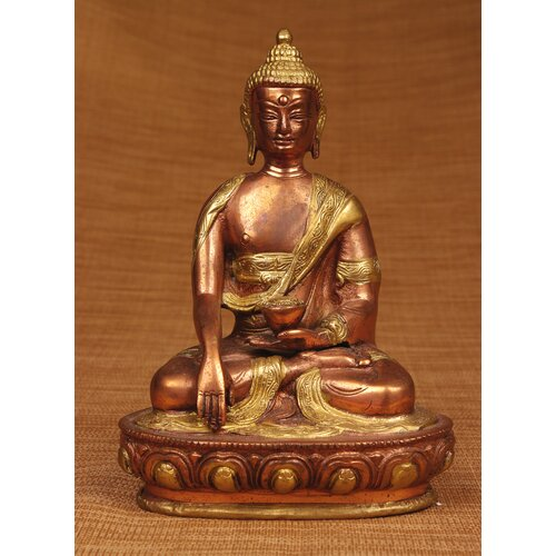 Miami Mumbai Brass Series Medicine Buddha with Carving Figurine