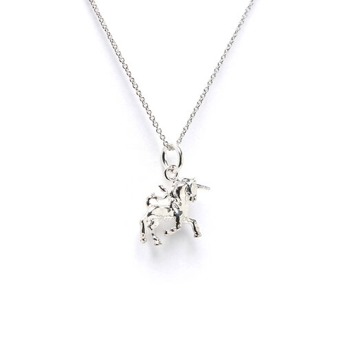 Jewelryweb Sterling Silver Unicorn Charm