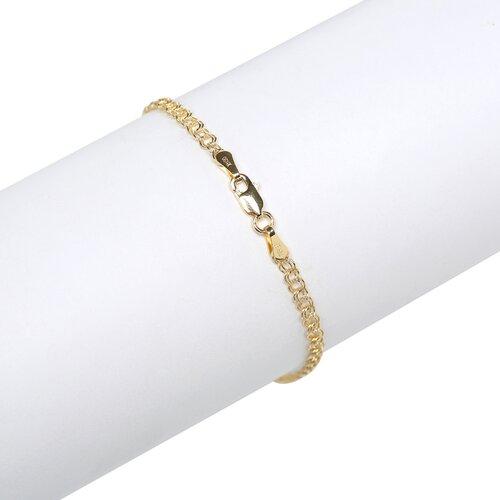 Jewelryweb 14K Lobster Claw Double LinK Charm Bracelet