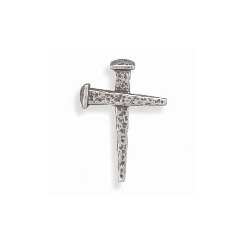 Jewelryweb Oxidized Nail Cross Slide Oxidized Ste. Silver Nails Joined To Form a Cross Measures 23mmx33mmCharm