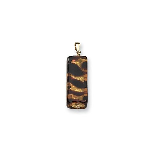 14k Balsamic Murano Glass Bead Pendant