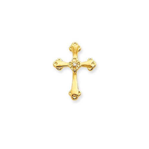 Jewelryweb 14k Diamond Cross Pendant