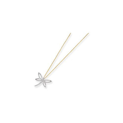 14k Diamond Fascination Dragonfly Necklace