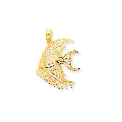 Jewelryweb 14k Ocean City Angel Fish Pendant