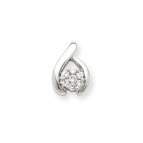 Jewelryweb 14k White Gold Diamond Pendant