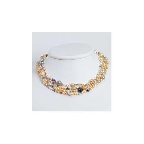 Multi-color Cultured Pearl Necklace - 72 Inch