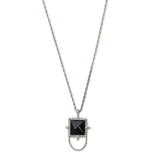 Jewelryweb Silver-tone Black Onyx Eyewear 30 InchNecklace