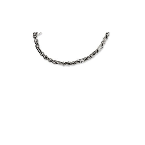 Jewelryweb Stainless Steel Fancy Link Necklace - 18 Inch