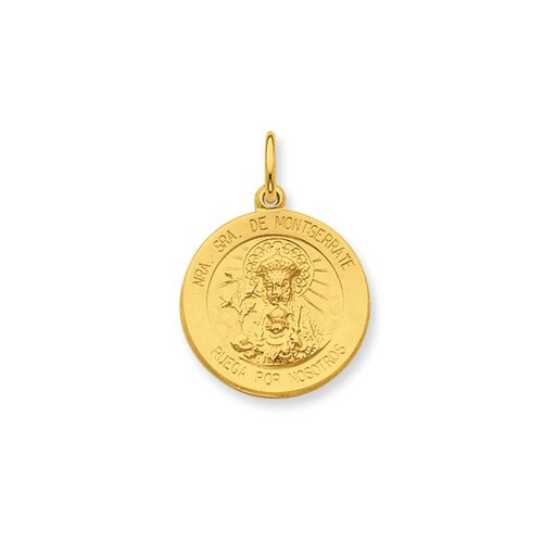 Ste. Silver 24k Gold -plated Our Lady of Puerto Rico Pendant