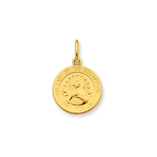Sterling 24k Gold -plated Our Lady of the Assumption Pendant