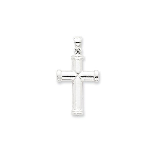 Sterling Silver Hollow Reversible Cross Pendant
