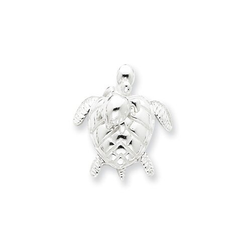 Sterling Silver Mother and Baby Turtle Pendant