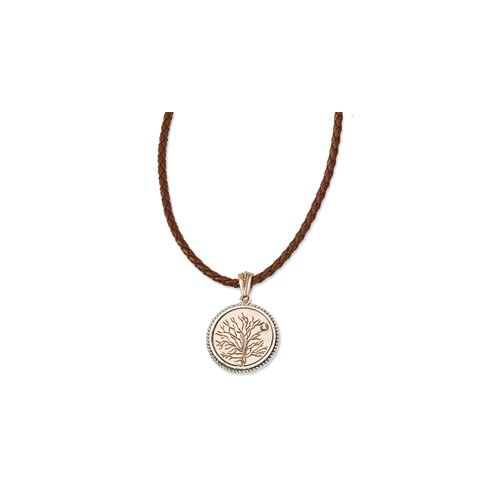 Jewelryweb Copper-tone Give Life and Tree Reversible Pendant16inch With Ext Necklace