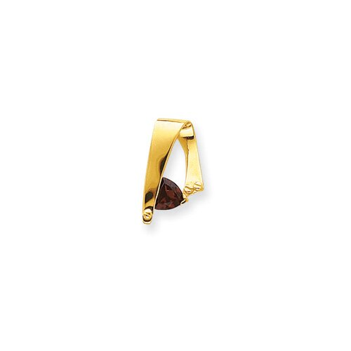 14k Garnet Diamond slide